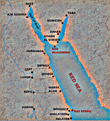 Home English - Map of egypt red sea area
